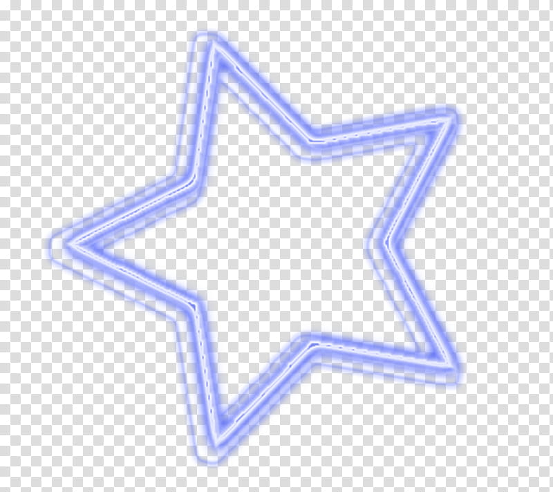 Luces de neon, purple star illustration transparent.