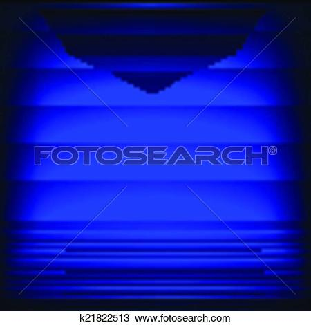 Clipart of Abstract background with neon blue strips. k21822513.