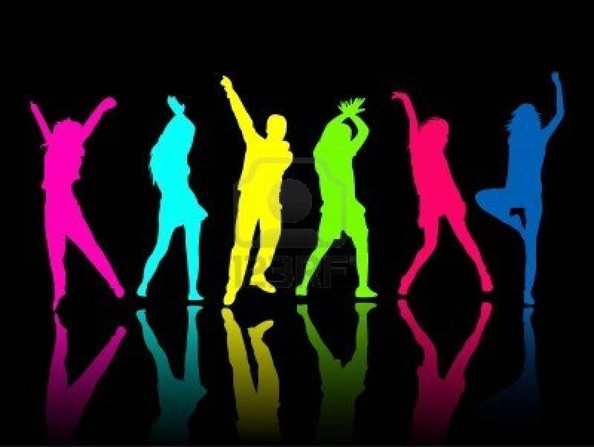 Neon Dance Party Clipart.