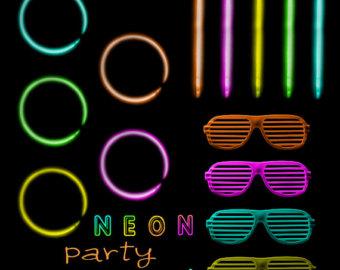 Neon clipart.