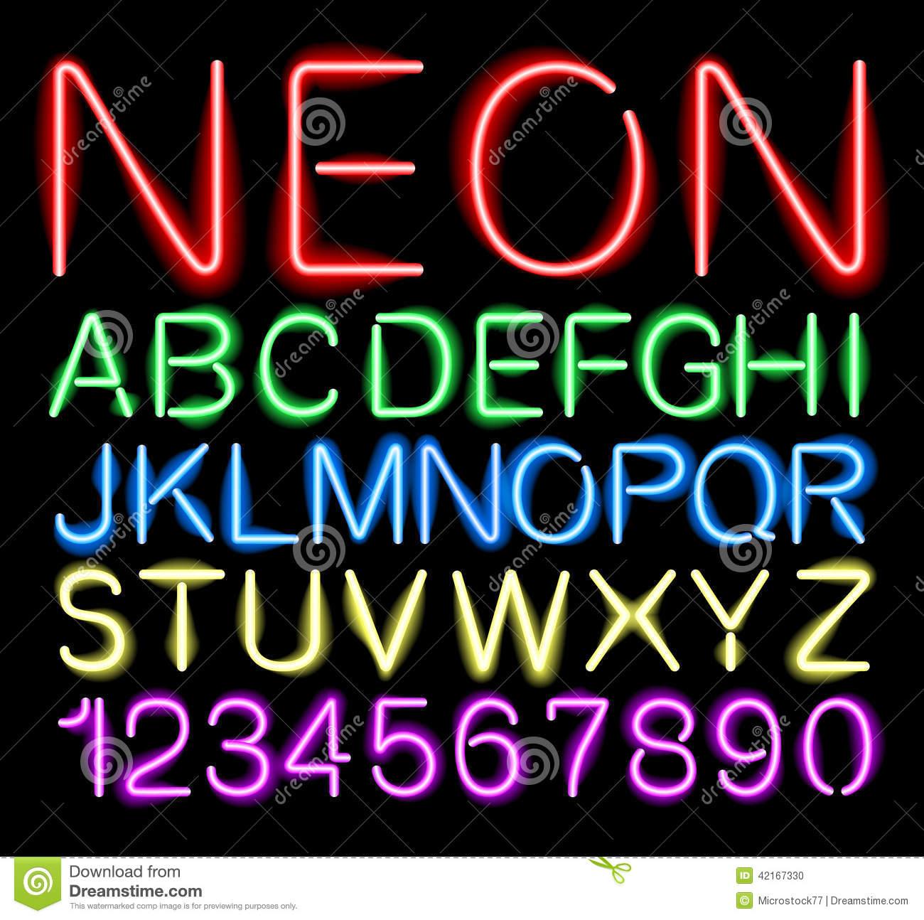 Font Stock Illustrations.
