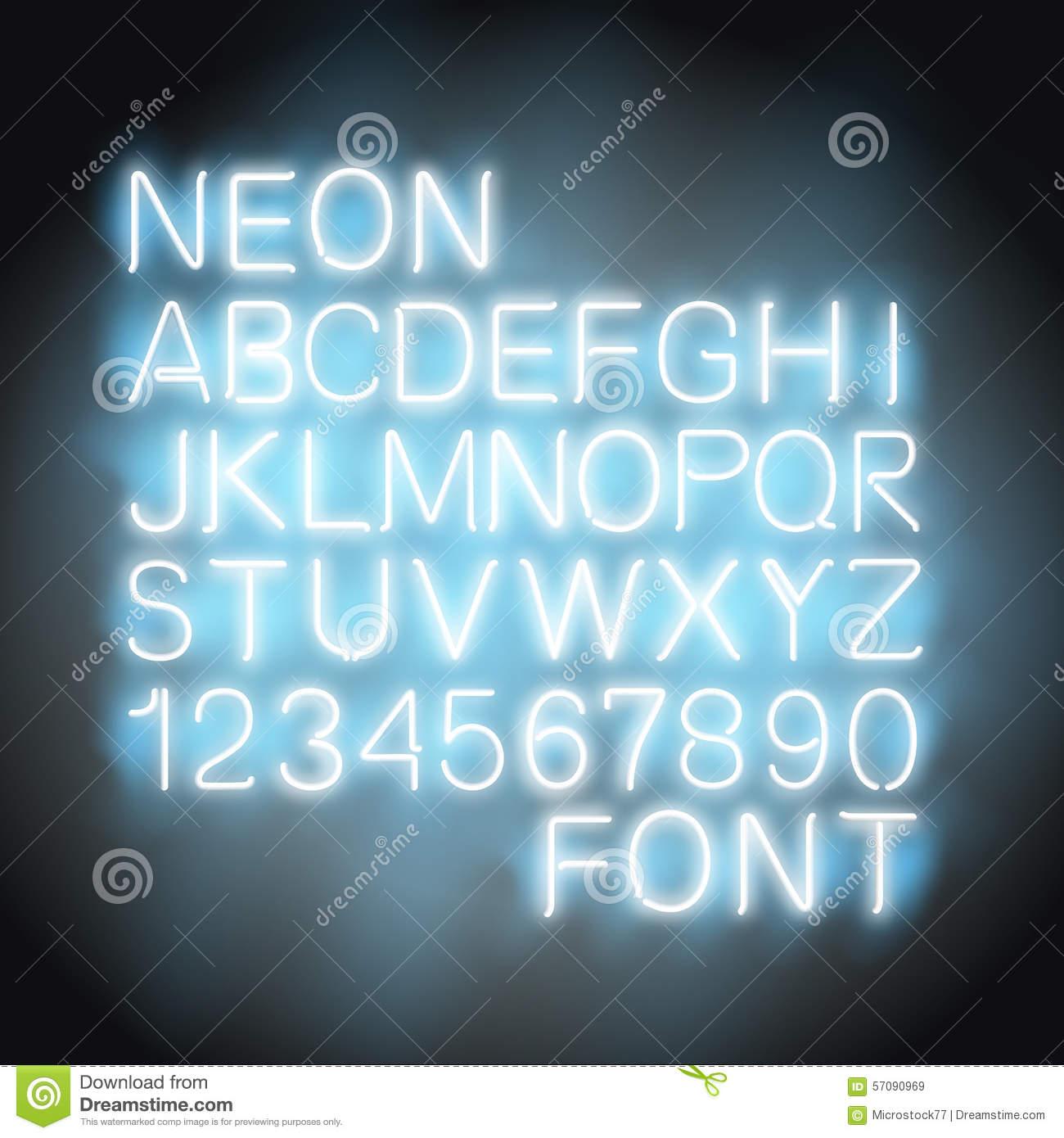 Neon Stock Illustrations.