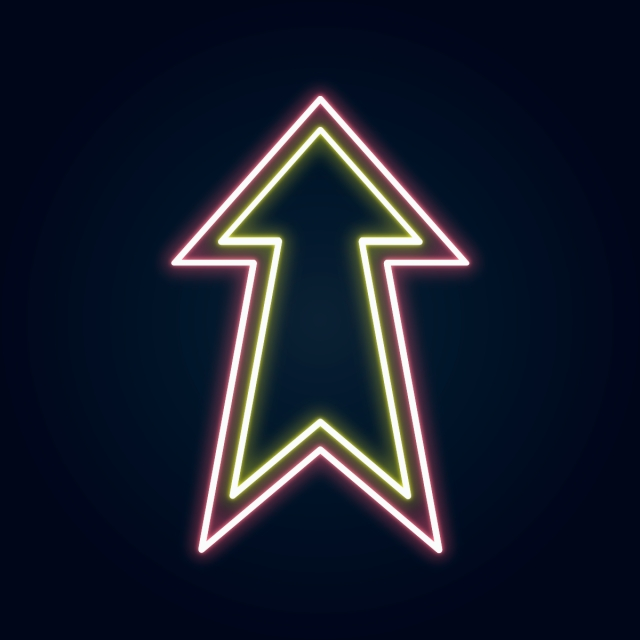Neon Arrow, Png, Neon, Glow PNG and Vector with Transparent.
