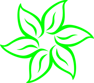 Bright Green Flower Clip Art at Clker.com.