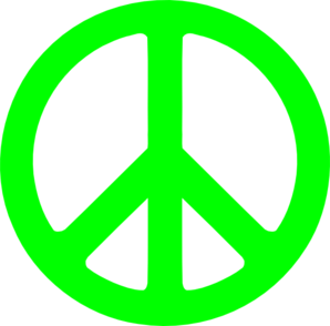 Neon Green Peace Sign Clip Art at Clker.com.