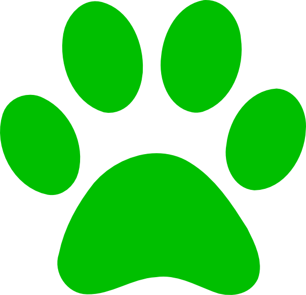 Green Paw Print Clip Art at Clker.com.