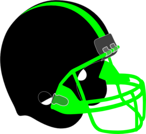 Neon green football clipart free.