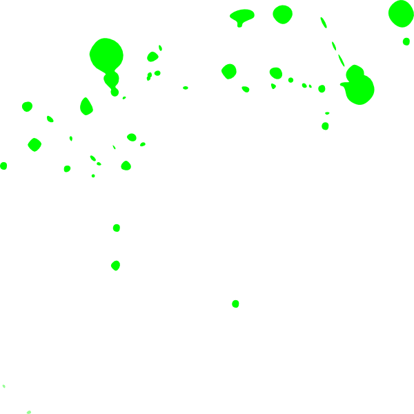 Green Paint Splatter Clipart.