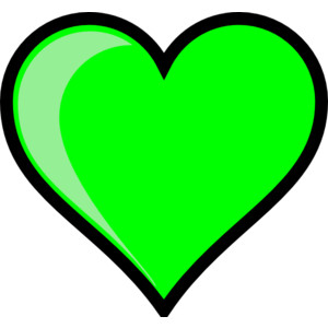 Lime green heart clip art.