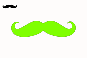 Lime Green Mustache Clip Art at Clker.com.