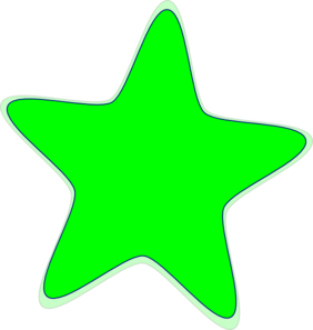 Neon Green Star Clip Art at Clker.com.