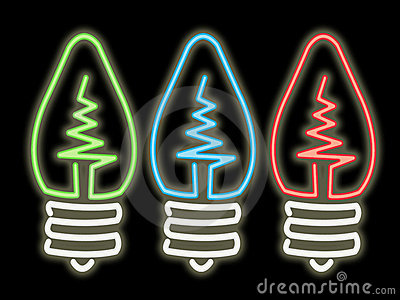 Neon Colored Light Bulbs info.