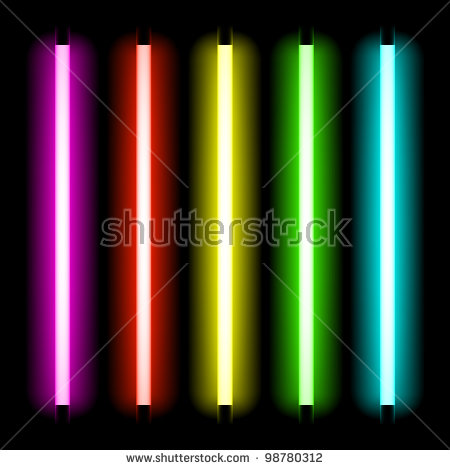 Neon Lights Stock Images, Royalty.
