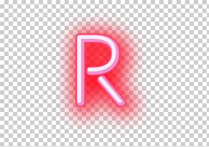 Light Paper Neon Letter, NEON, R Neon sign PNG clipart.