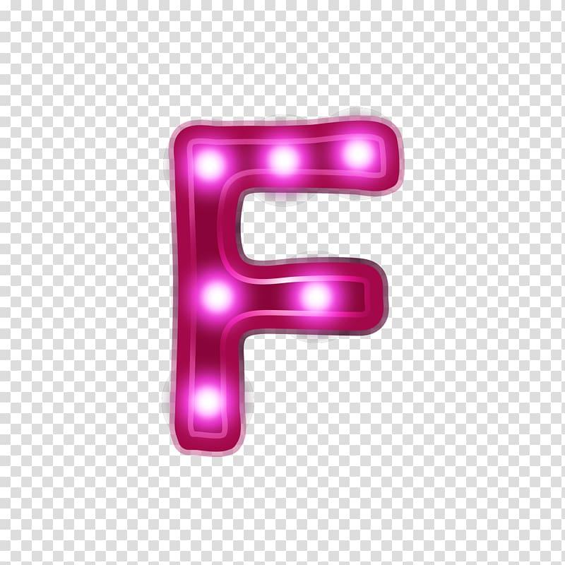 F letter illustration, Letter Alphabet Neon Font, Neon.