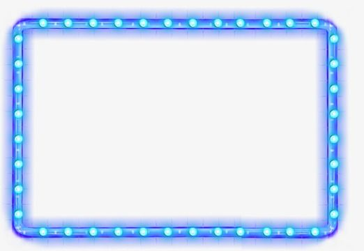 Cool Blue Border, Blue, Cool, Light PNG and Vector with.