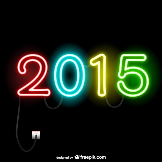 2015 Neon Lights Free Vector.