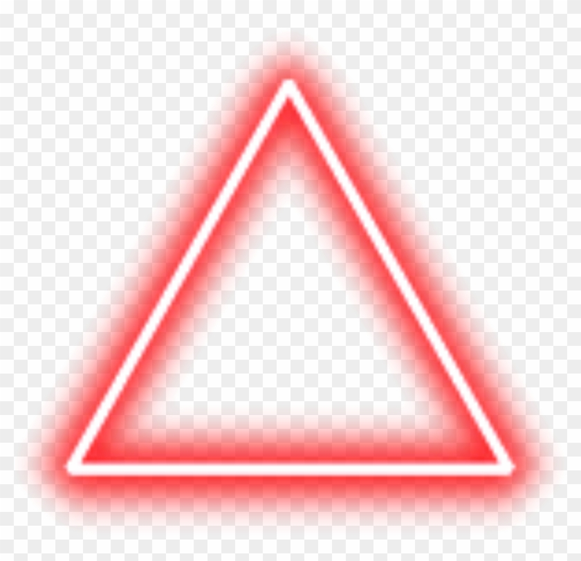 Neon Triangle Border Png Red Freetoedit.