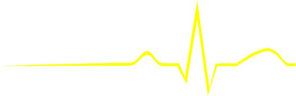 Neon Ekg Line Clipart.