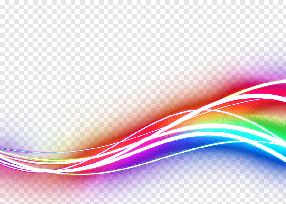 Wave of red, purple, and teal neon lights, Light Graphic.