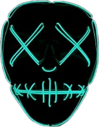 face neon mask adesive.