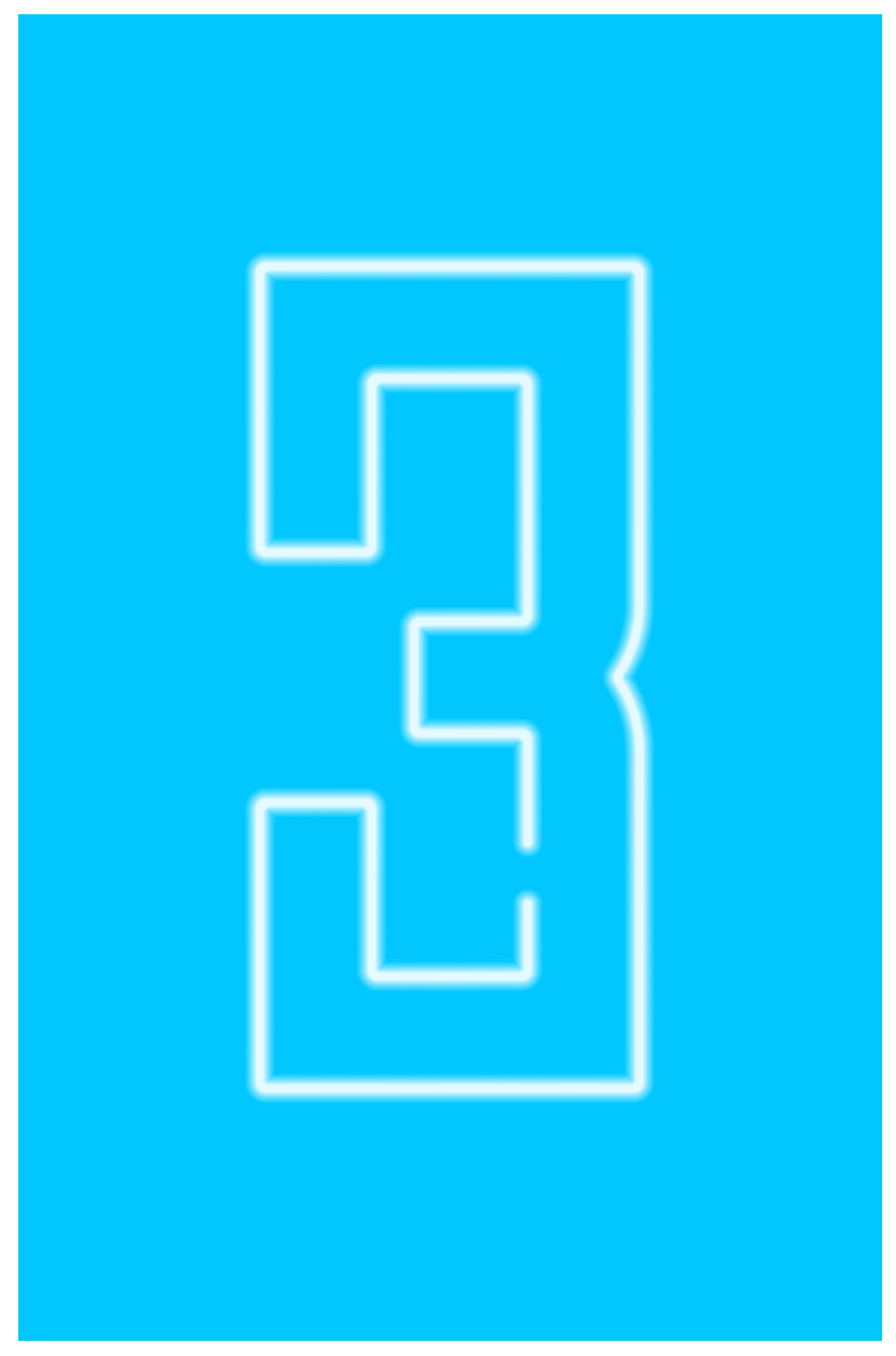 Neon Number Three Transparent Clip Art Image.