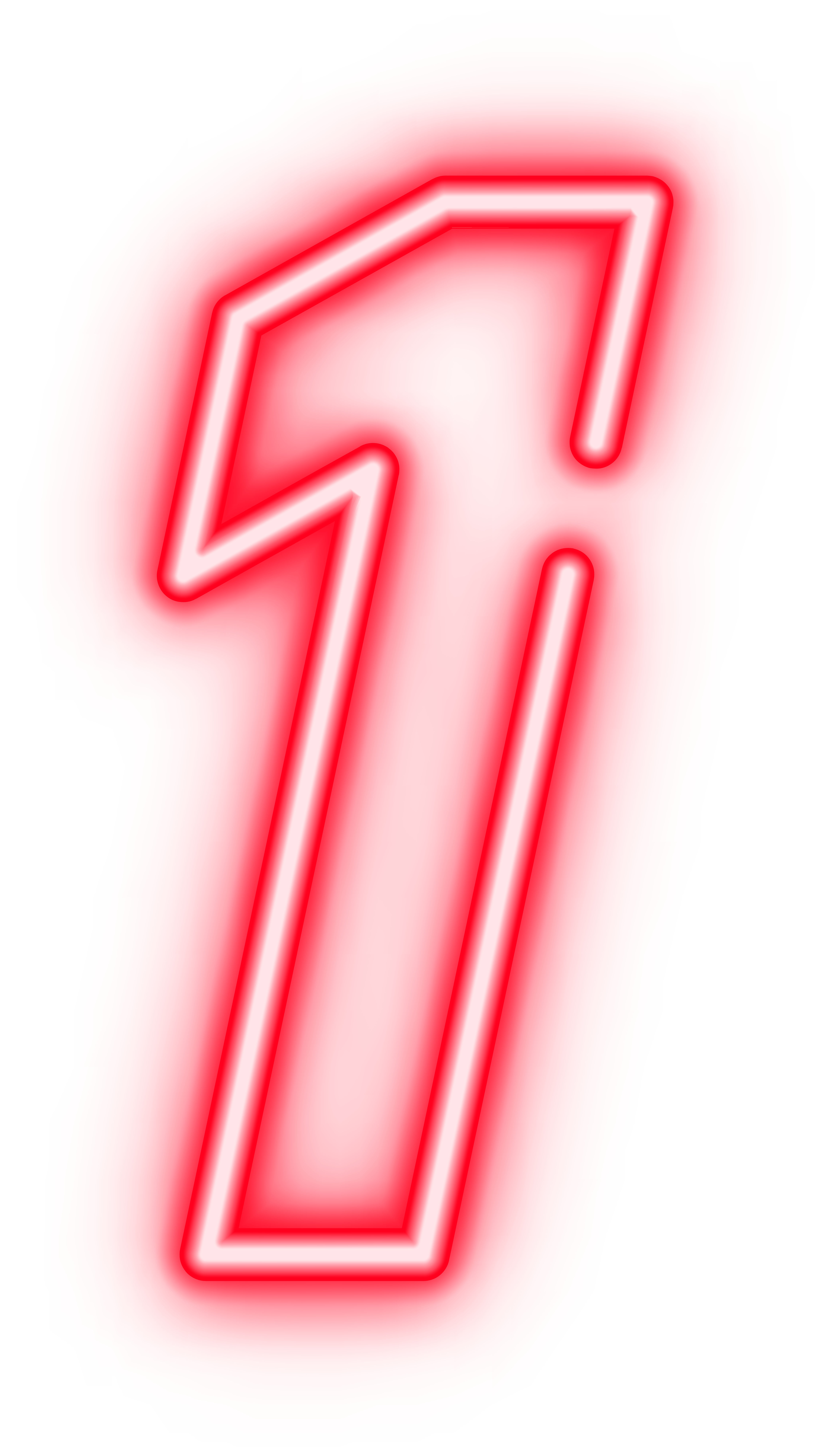 One Red Neon Transparent PNG Clip Art Image.