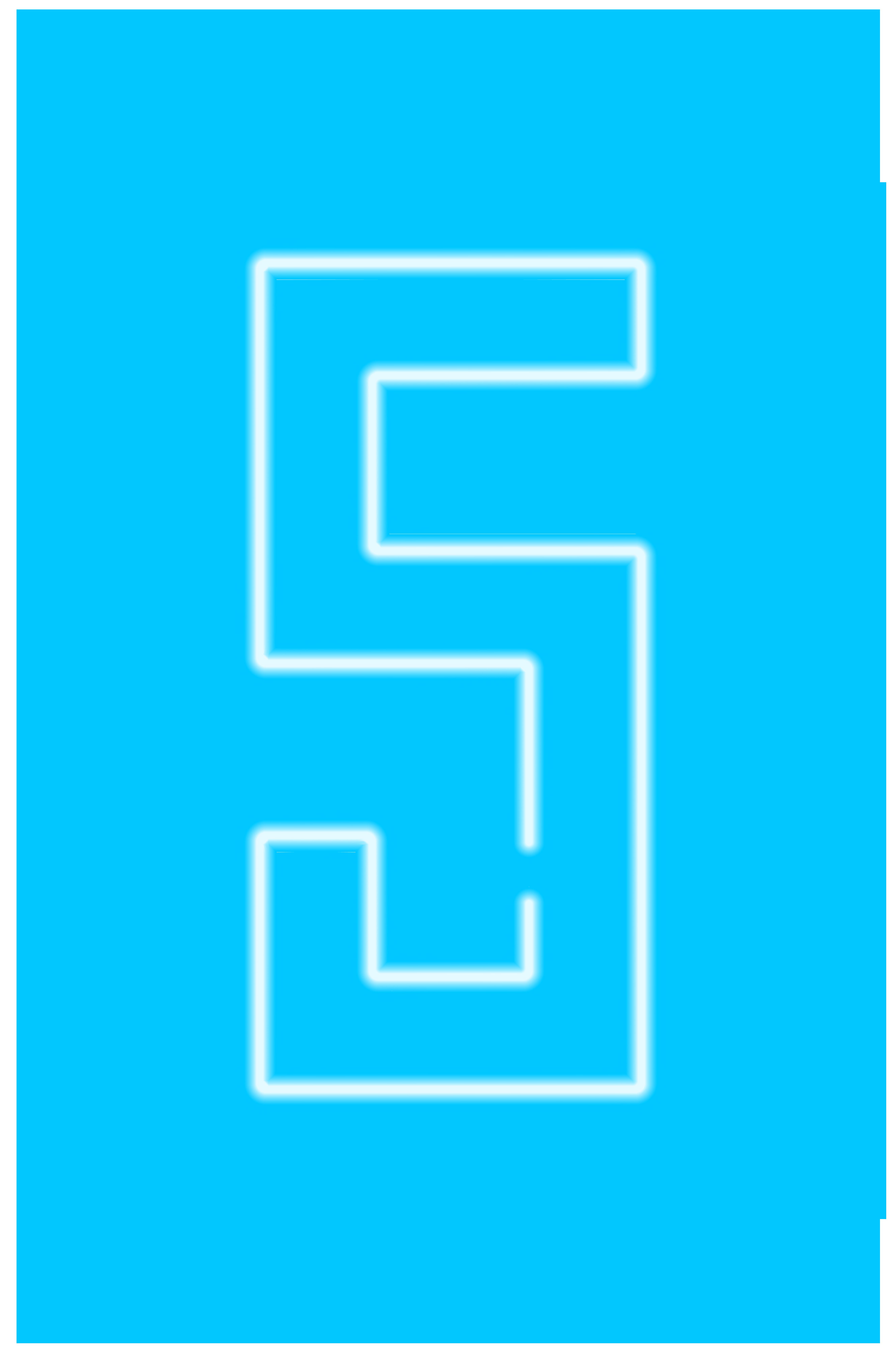 Neon Number Five Transparent Clip Art Image.