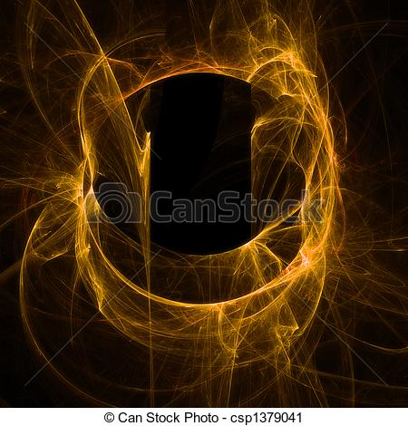Clipart of Abstract smoky neon.