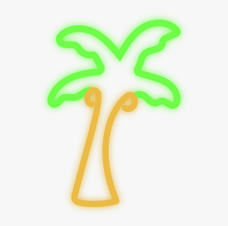 Neon Palm Tree Png.