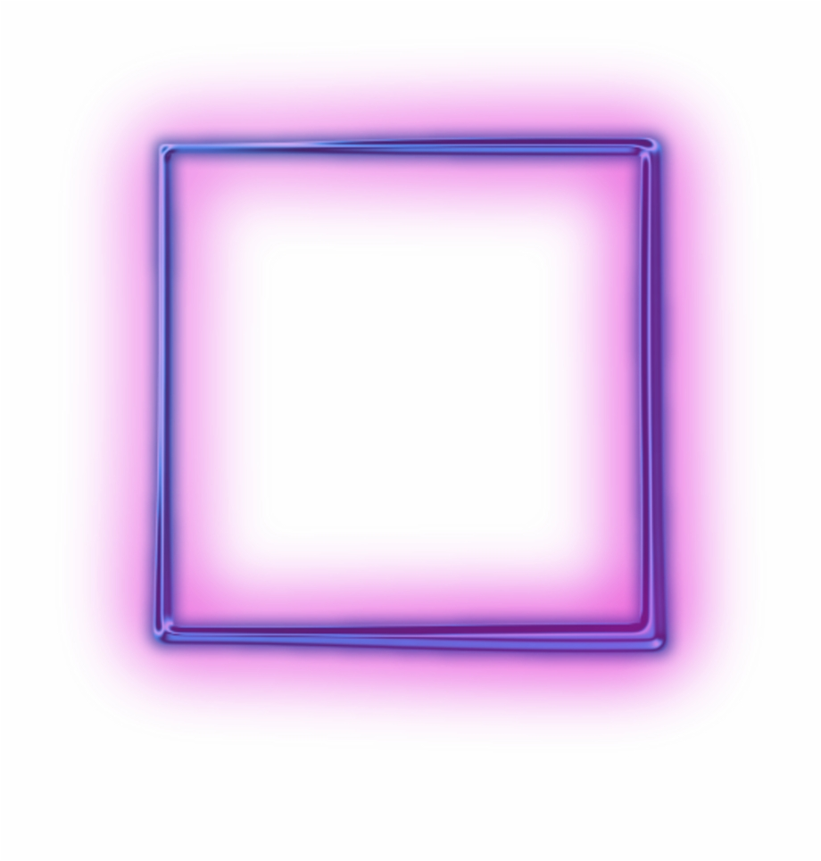 Neon Square Png.