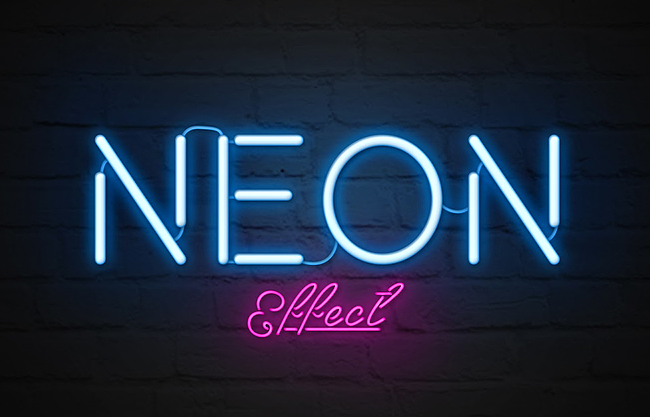 15+ Realistic Photoshop Neon Text Effects.