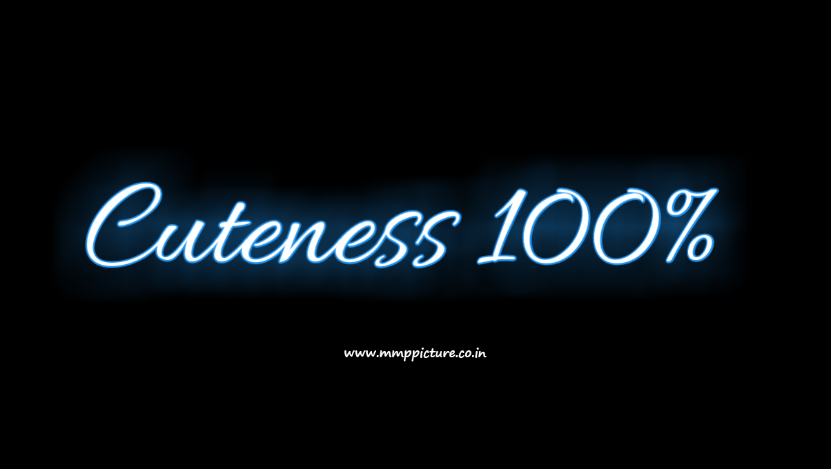 Cuteness 100% text png with neon light effect by mmp picture.