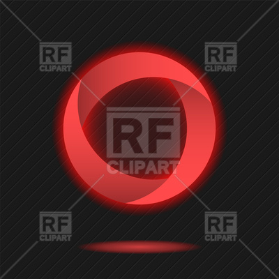 Neon red circle Vector Image #86687.