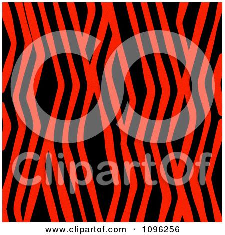 Clipart Background Pattern Of Zig Zag Zebra Stripes On Neon Red.