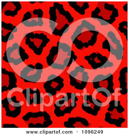 Clipart Background Pattern Of Neon Pink Leopard Print.