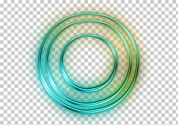 Circle Neon Shapes Light , ISLAMIC PATTERN, green ring.