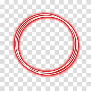 CIRCULOS, red neon ring transparent background PNG clipart.