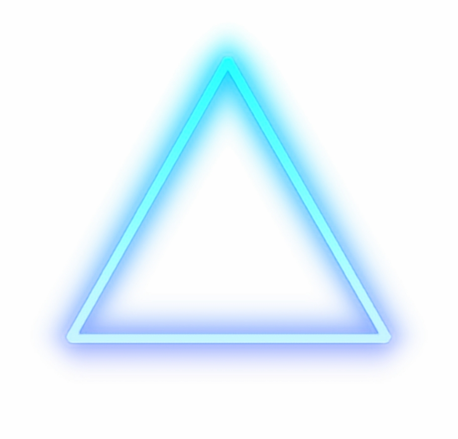 triangle #blue #glow #light #shape #cool.