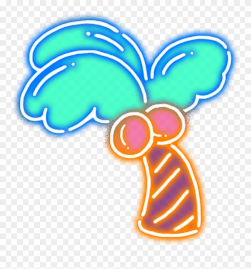 Neon Palm Ftestickers Stickers Autocollants Smile Pegat.
