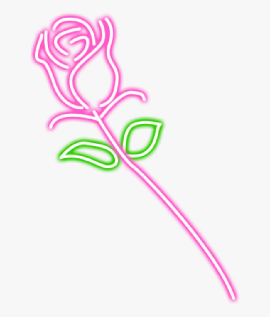 rose #gül #neon #cute #kawaii #ftestickers #sticker.