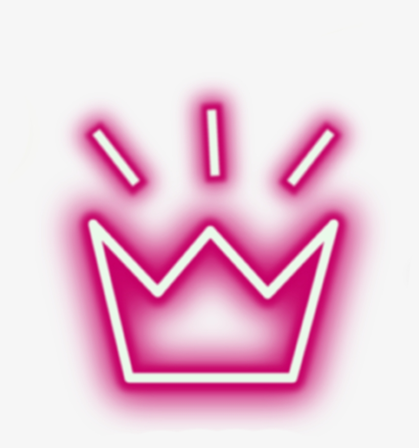 Sticker Crown Neon Lights Tumblr Aesthetic Crowns Png.