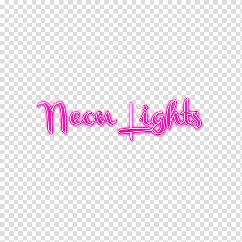 Neon Lights Text Neon lighting, NEON transparent background.