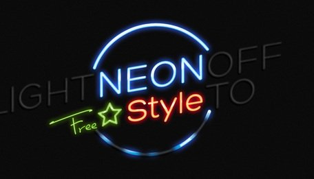 Psd Neon Text Effect Photoshop Clipart Picture Free Download.