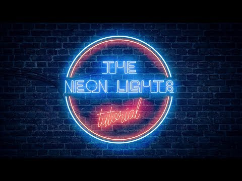 Realistic Neon Light Effect in Photoshop.