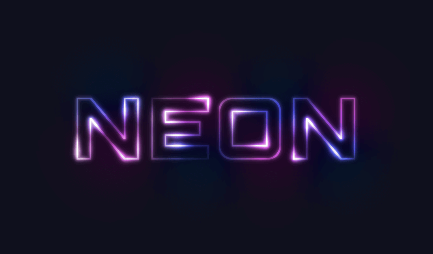 How To Create Glowing Neon Text with GIMP.