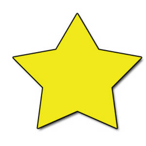 Clipart Picture of a Bright Yellow Star.