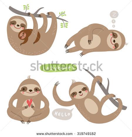 Sloths Stock Photos, Royalty.