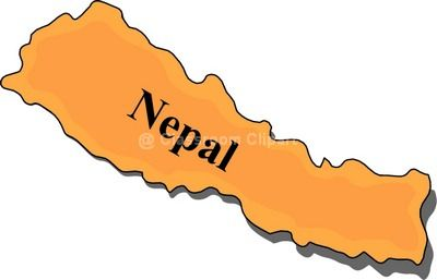 Nepal map clipart.