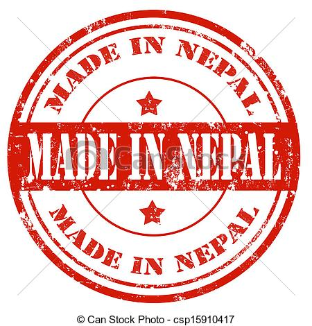 Vector Clip Art of Made in Nepal.